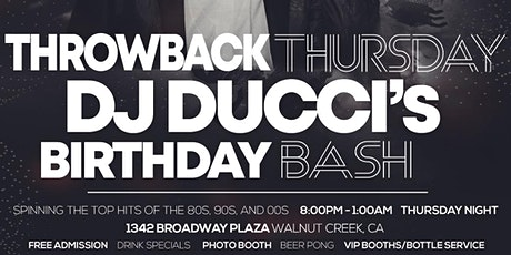 Throwback Thursday - Andrew Verducci's Birthday Bash Party! 80's, 90's 00's tickets