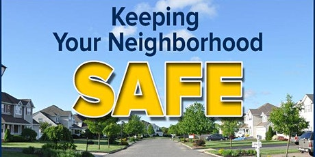 CC - Strategies to Prevent Crime & Maintain Safety in your Neighborhood tickets