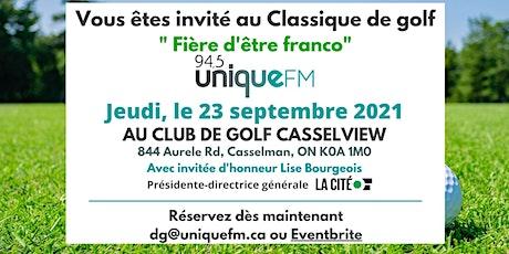 """Tournoi de golf 2021 """"Fière d'être franco"""" tickets"""