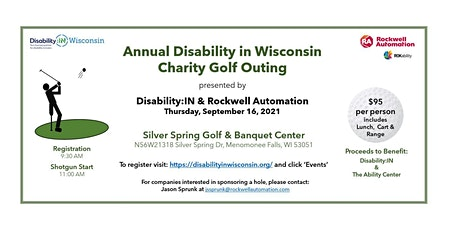 Annual Disability in Wisconsin Charity Golf Outing tickets