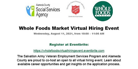 Whole Foods Virtual Hiring Event tickets