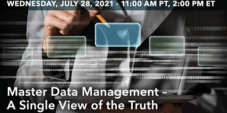 Master Data Management – A Single View of the Truth tickets