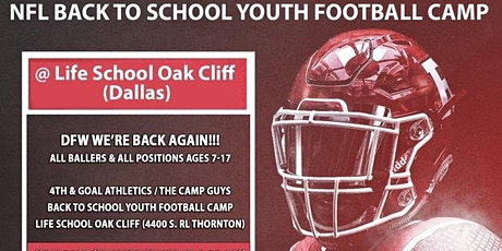 NFL BACK-TO-SCHOOL YOUTH FOOTBALL CAMP (DALLAS) tickets