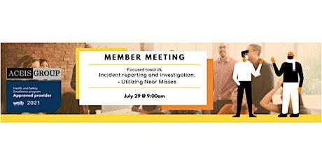 Member Meeting tickets