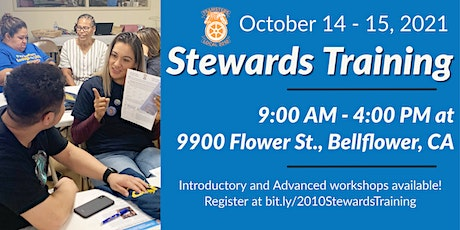 Teamsters Local 2010 Stewards Training - October 2021 tickets