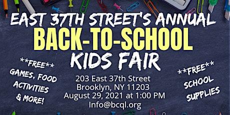 East 37th Street Kids Fair & Community Day tickets