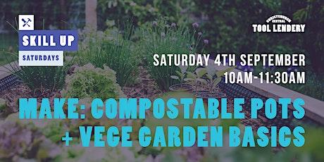 MAKE: Compostable newspaper pots + vege garden basics tickets
