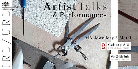 IRL/URL Artist Talks & Performances tickets