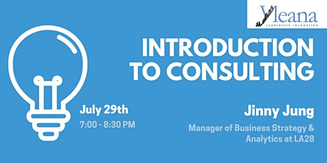 Introduction to Consulting - with Jinny Jung tickets