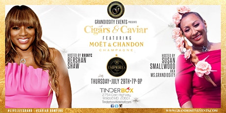 Cigars and Caviar featuring Moet champagne tickets