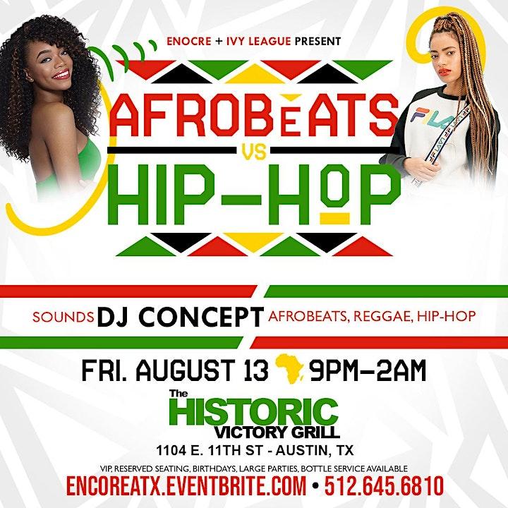 Afrobeats + Hip-Hop Night | 8.13 image