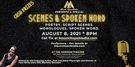 Scenes & Spoken Word Special Event (Cash Prizes) held at Horizon Theatre tickets