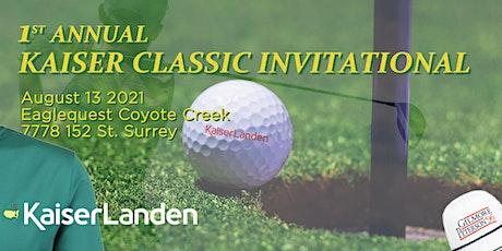 First Annual Kaiser Classic Invitational Golf Tournament tickets