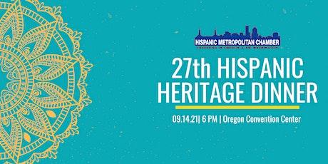 27th Hispanic Heritage Dinner tickets
