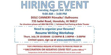 August 3, 2021 American Job Center Hiring Event tickets