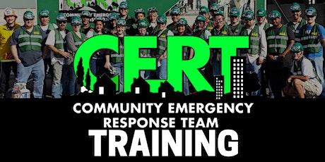 September 2021 Eastvale CERT Training tickets