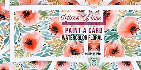 [Letters Of Love]Paint & Give A Delicate Watercolor Floral Card BYOB tickets