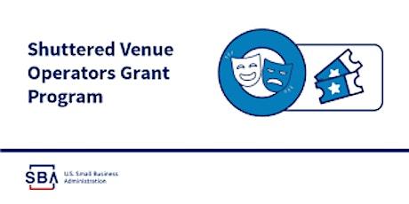 Shuttered Venue Operators Grant (SVOG) – Women in Entertainment WIE tickets