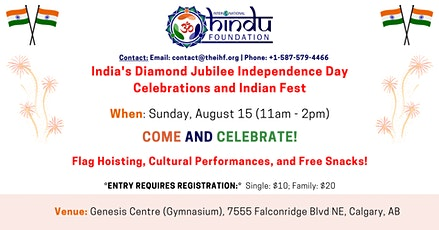 India's Diamond Jubilee Independence Day Celebrations tickets
