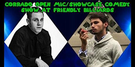 Corrado Open Mic/Showcase Comedy Show at Friendly Billiards: 8/12/21 tickets