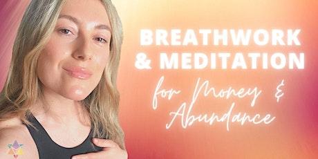LIVESTREAM | Breathwork & Meditation  For Abundance/Money tickets