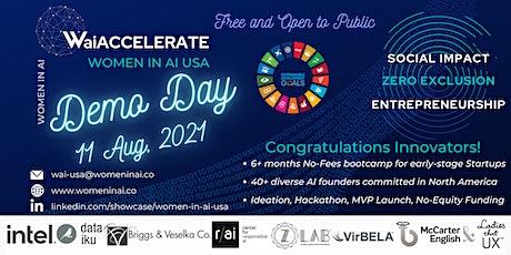 Women in AI USA - WaiACCELERATE 2021 Demo Day tickets