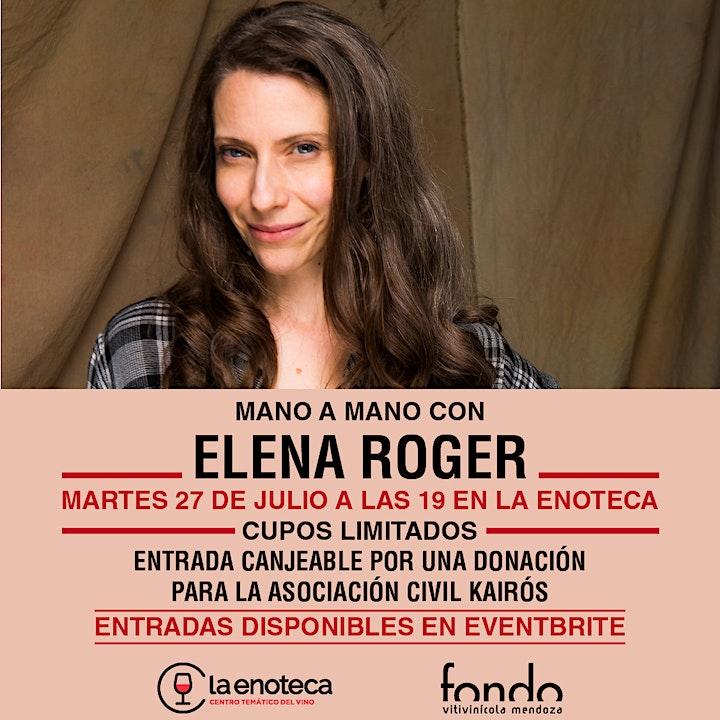 Imagen de Mano a mano con Elena Roger en La Enoteca