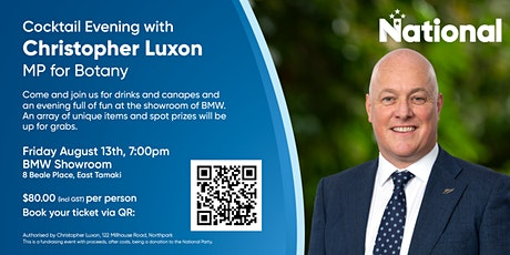 Cocktail Evening with Christopher Luxon tickets