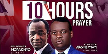10 hours Prayer tickets