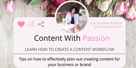 Content with Passion: Create a Content Workflow tickets