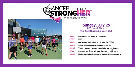 Cancer StrongHER Tennis - July 25, 2021 Free Class tickets