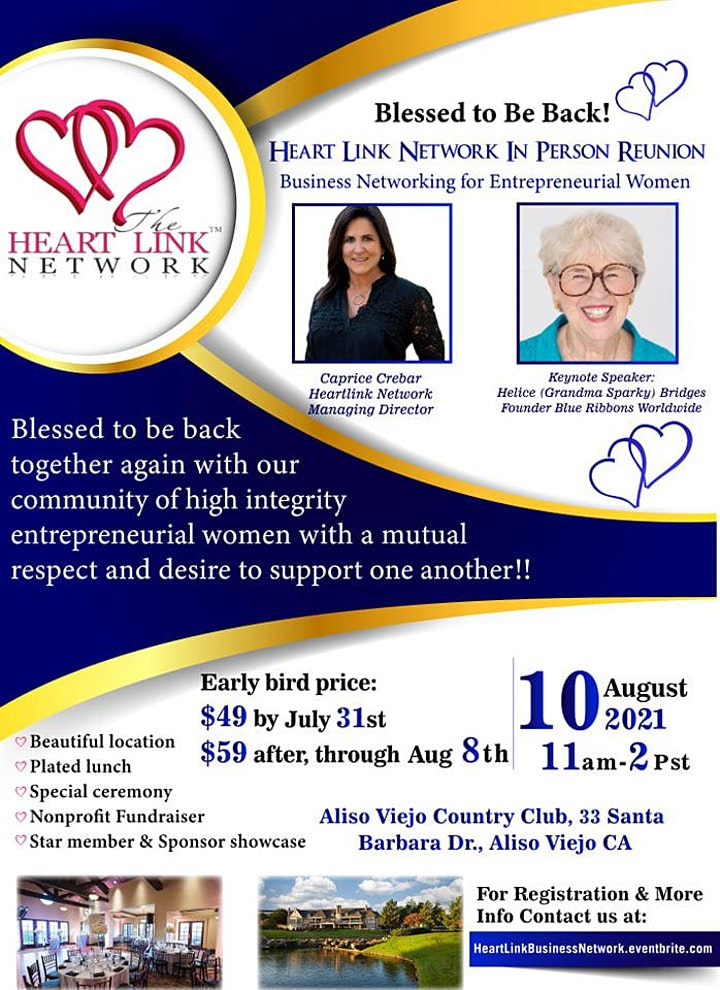 Heart Link Business Network In-Person Reunion! image