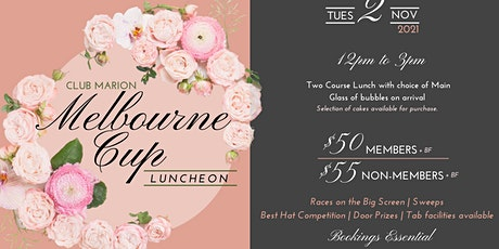 2021 Melbourne Cup Luncheon at Club Marion tickets