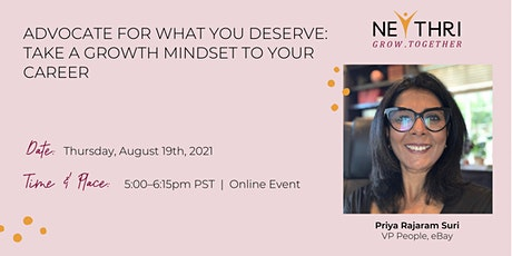 Advocate For What You Deserve: Take a Growth Mindset to Your Career tickets