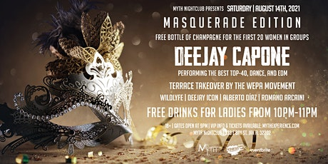Saturday Night - MASQUERADE EDITION at Myth Nightclub | Saturday 08.14.21 tickets