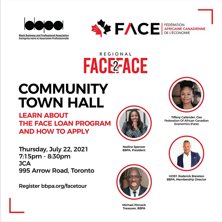 Face2Face Canadian Tour: Community Town Hall  at Jamaican Canadian image