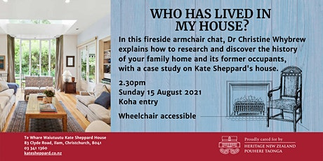 Fireside chat: Who has lived in my house? tickets