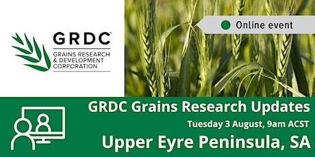 GRDC Upper Eyre Peninsula Grains Research Update - Livestream tickets