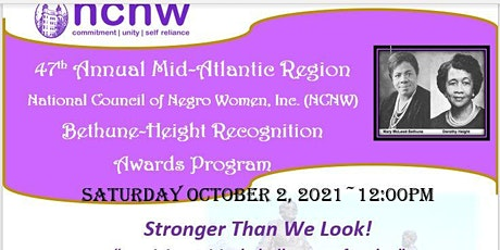 47th NCNW Bethune-Height Recognition Award Program tickets