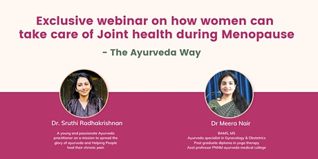 Webinar on how women can take care of Joint health during Menopause tickets