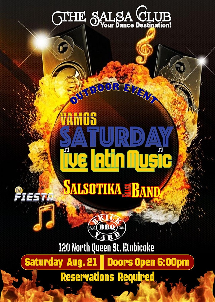 VAMOS SATURDAY!  PATIO PARTY with LIVE LATIN MUSIC  (Reservations Only) image