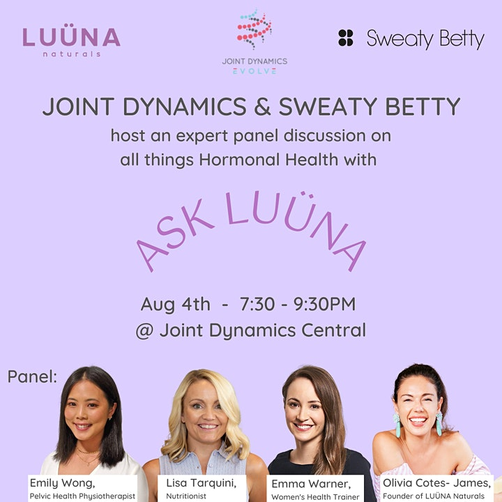Ask LUÜNA: Hormonal Health with Joint Dynamics and Sweaty Betty image