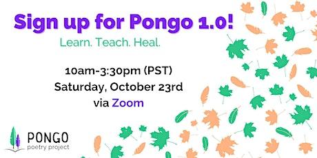 Pongo 1.0 Techniques Online tickets