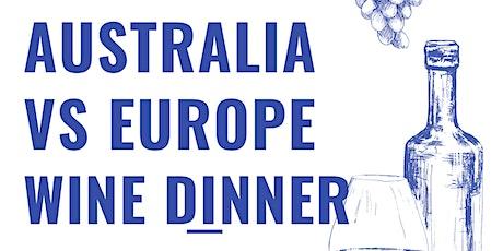 Australia Vs Europe Wine Dinner @ SIREN tickets