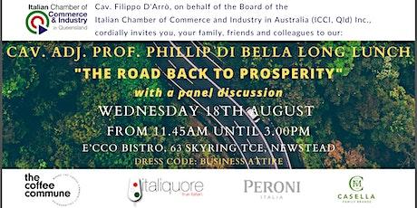 ICCI QLD Cav. Adj. Prof. Phillip Di Bella LONG LUNCH tickets