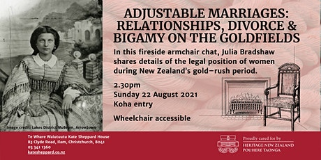 Fireside chat: Adjustable Marriages - Relationships, divorce and bigamy tickets