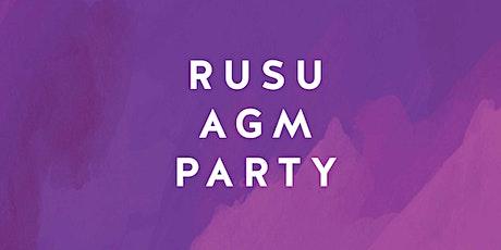 RUSU Presents: RUSU AGM Party tickets