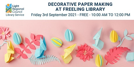 Decorative Paper Making @ Freeling Library tickets