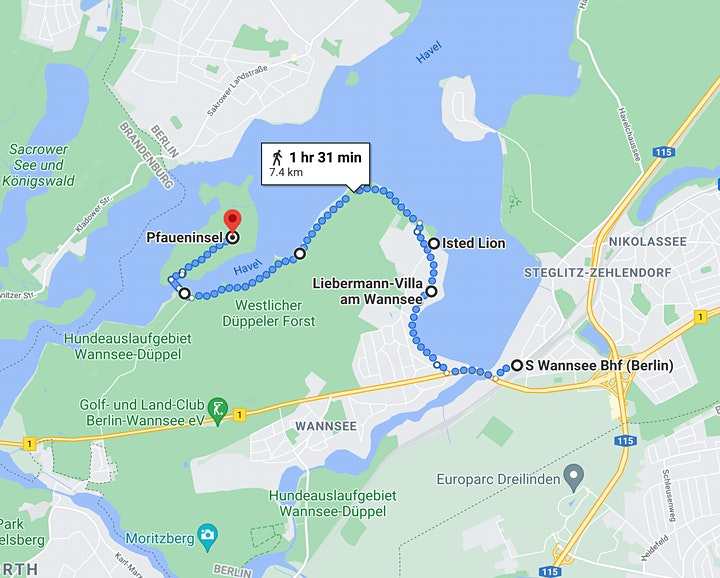 Club 100 Networking - Scenic Walk from Wannsee to Pfaueninsel image