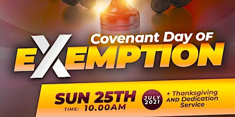 SUNDAY SERVICE. TAG: COVENANT DAY OF EXEMPTION tickets